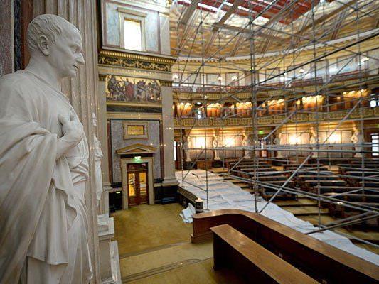 Umbau im Wiener Parlament soll nachhaltig sein