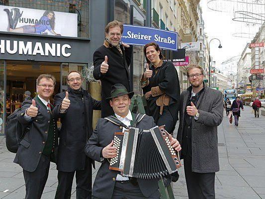 Die Kärntner Straße wurde zur Steirer Straße - die Steirer freut's