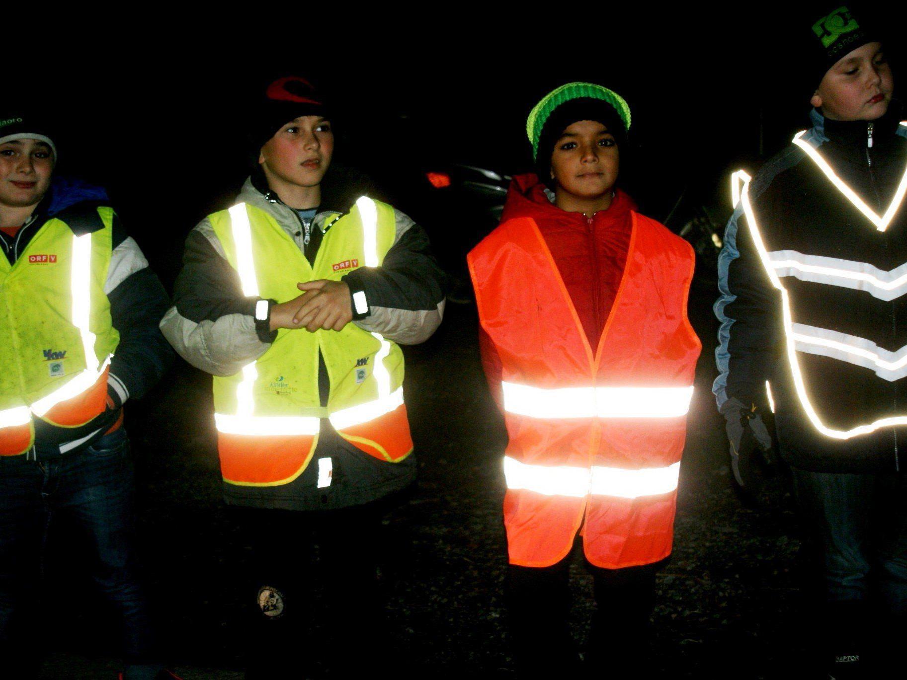 Reflektoren können leben retten