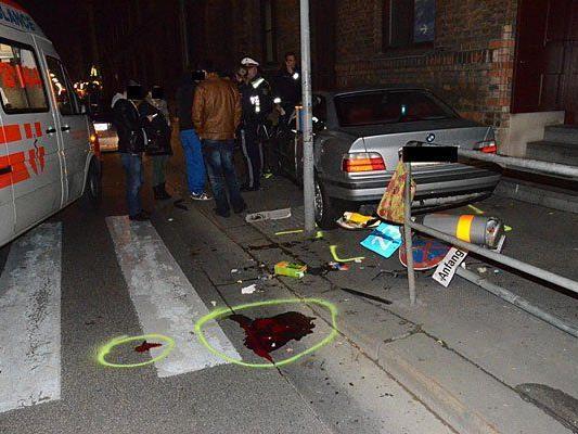 An der Unfallstelle in Wien-Favoriten