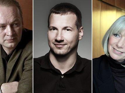 Ferndinand von Schirach, Georg Fraberger und Erika Pluhar sind heuer bei der Buchmesse in Wien dabei.