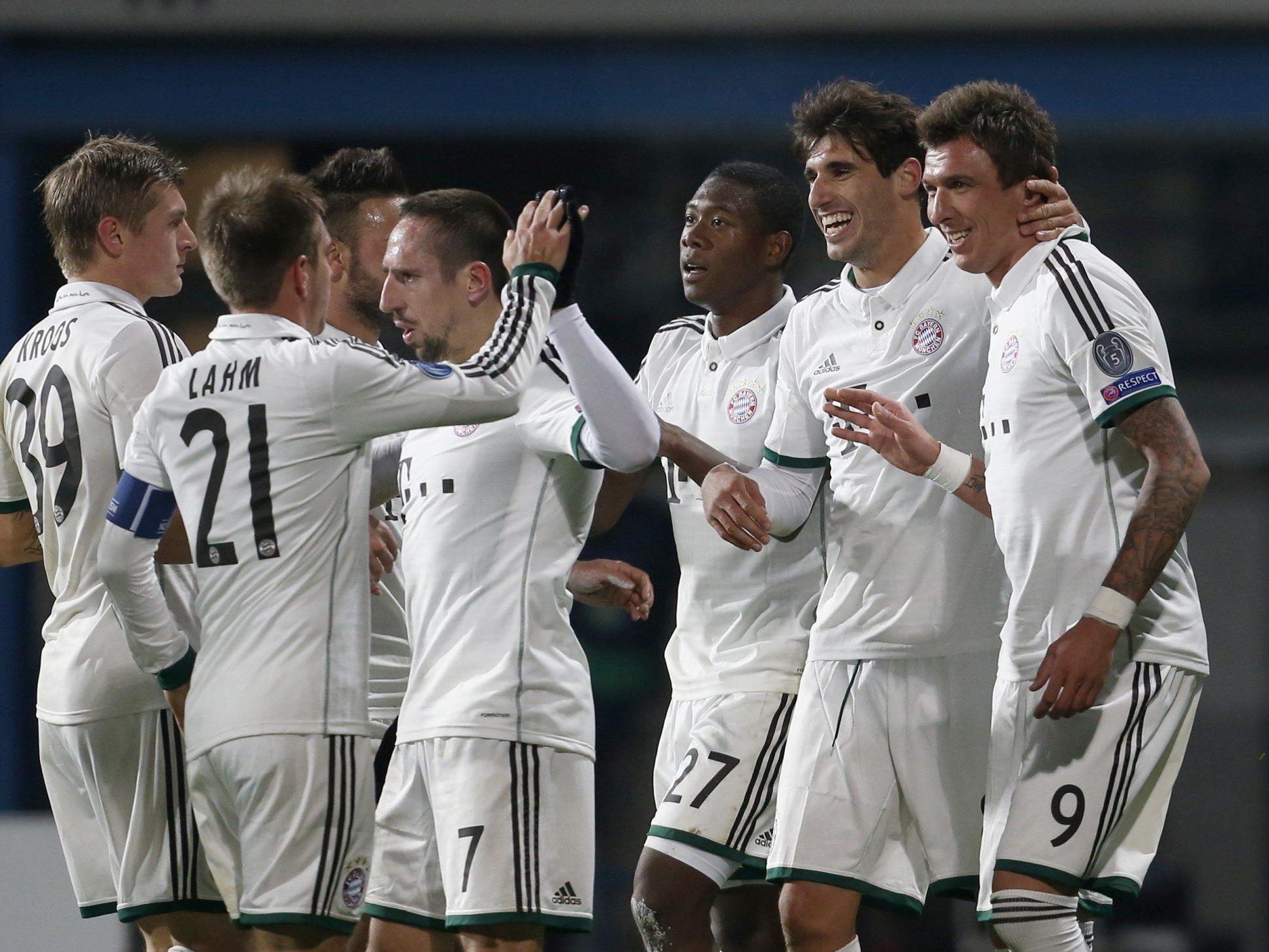 Bayern München und David Alaba feierten einen knappen 1:0-Sieg in Pilsen.