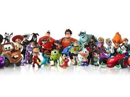 Selten siehr man sie alle gemeinsam - die Stars aus den Disney-Filmen.