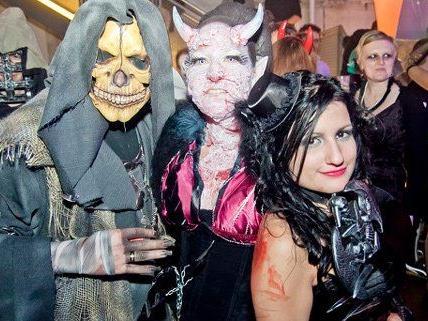 In der Ottakringer Brauerei wurde wild Halloween gefeiert.