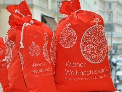 Der Wiener Weihnachtssack ist eine umweltfreundliche Alternative zum Geschenkpapier.
