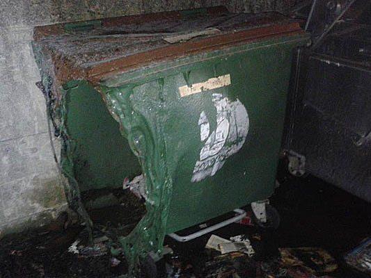 In Favoriten brannten unter anderem Müllcontainer