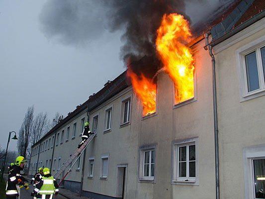Die Wohnung in Gruntramsdorf stand bereits in Vollbrand
