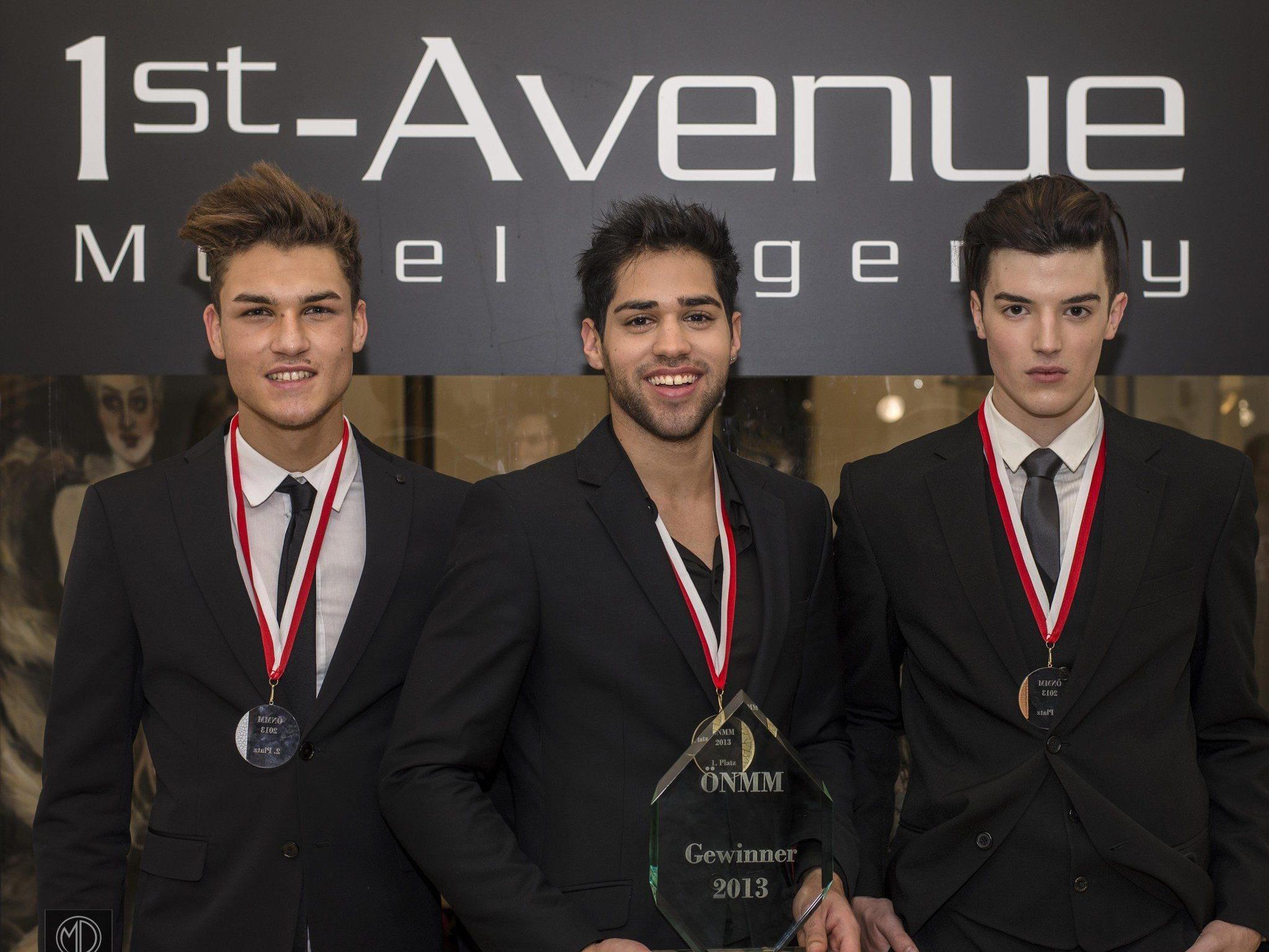 Jerome Jaksch (2.Platz), Bernardo de Oliveira (1.Platz), Paul Csitkovic (3.Platz)