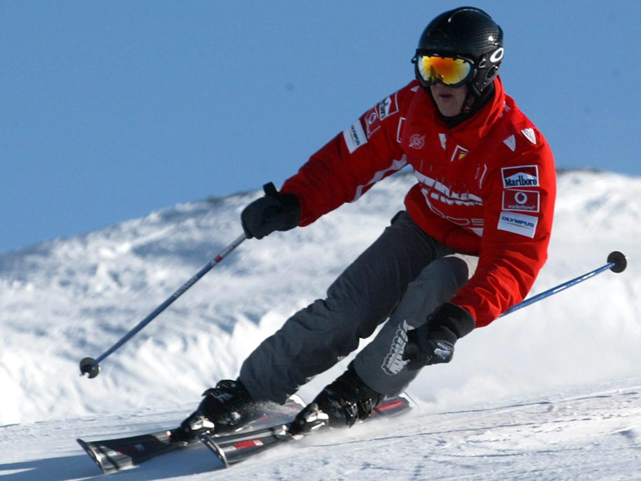Michael Schumacher beim Skifahren 2005 in Italien.