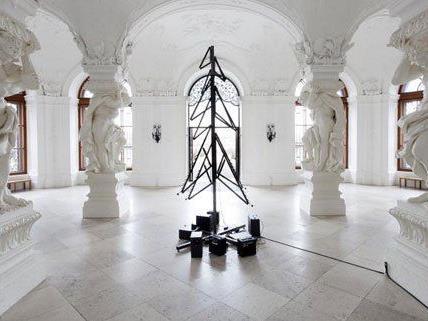 Der Weihnachtsbaum im Schloss Belvedere.