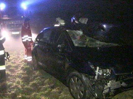 Glücklicherweise blieb die Lenkerin bei dem Unfall unverletzt.