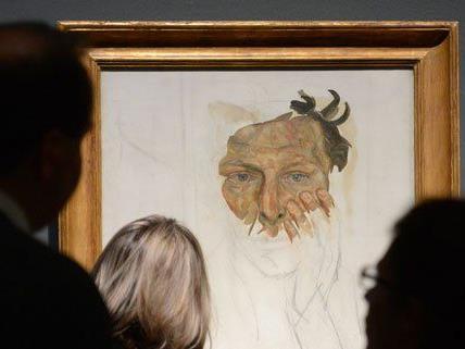 Bis zum 12. Jänner werden die Bilder von Lucian Freud gezeigt.