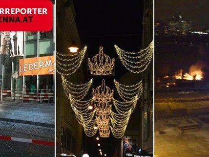 Von Scherben, Weihnachtszauber und und einem Großeinsatz der Feuerwehr berichteten die Leserreporter.