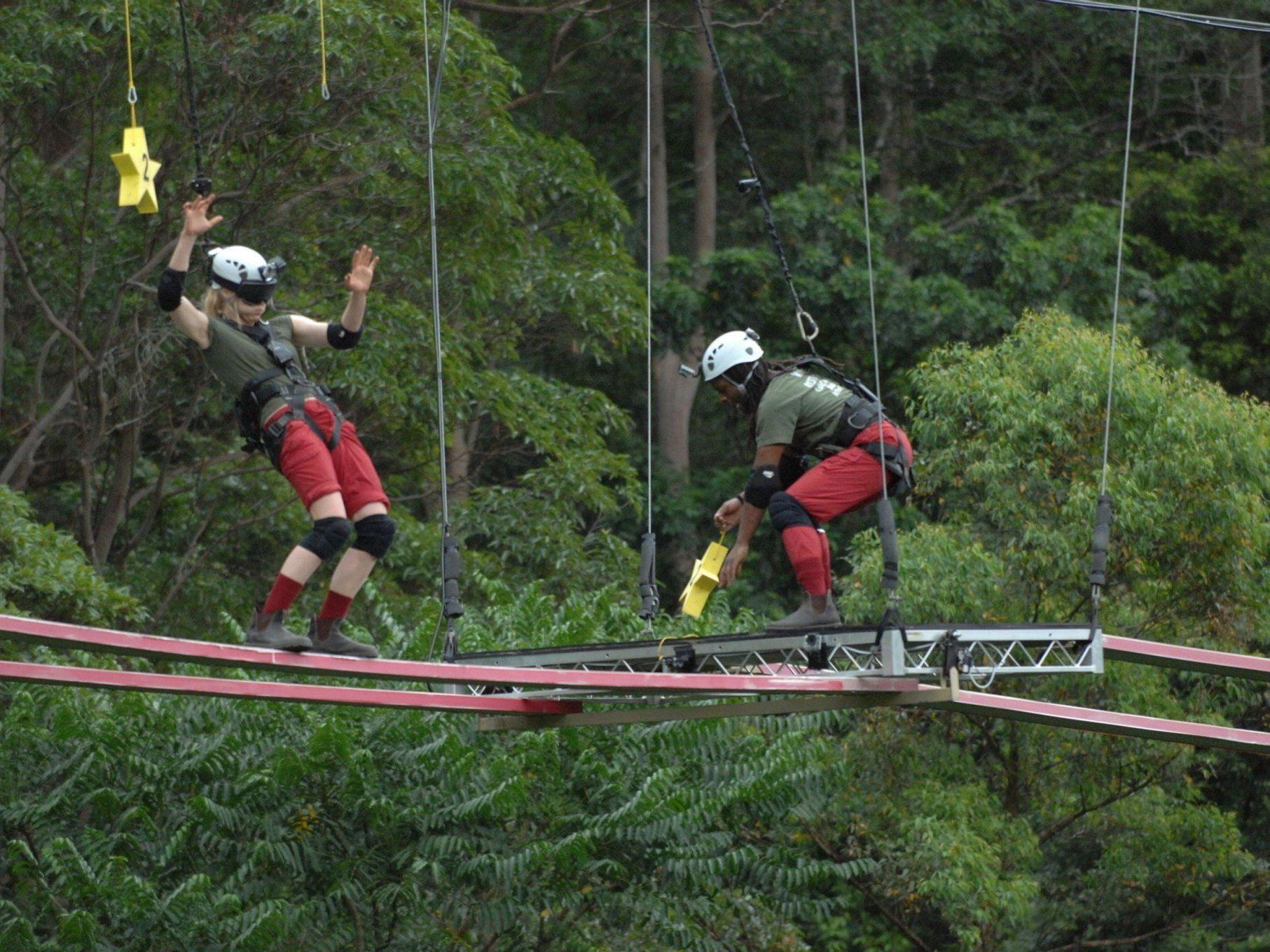Larissa und Mola holten acht Sterne in der Dschungelprüfung am Donnerstag.