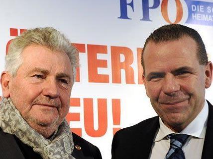 Harald Vilimsky und Andreas Mölzer sind die FP-Kandidaten für die EU-Wahl 2014.