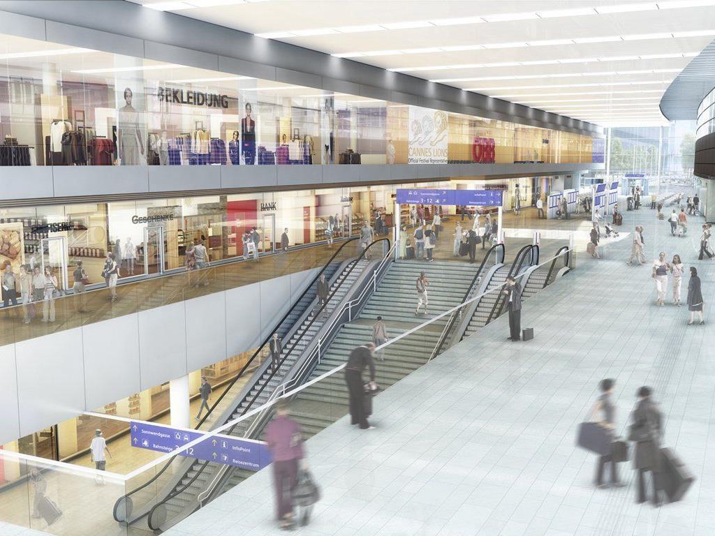 Wiener Hauptbahnhof: Einkaufszentrum eröffnet im Herbst