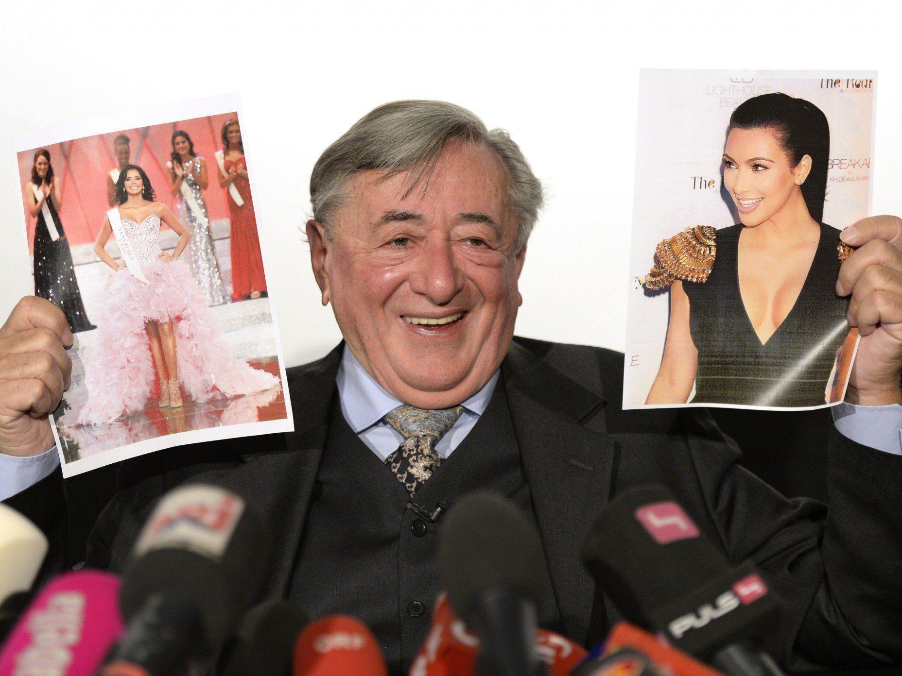 Richard Lugner freut sich auf Kim Kardashian, die ihn auf den Opernball 2014 begleiten wird.