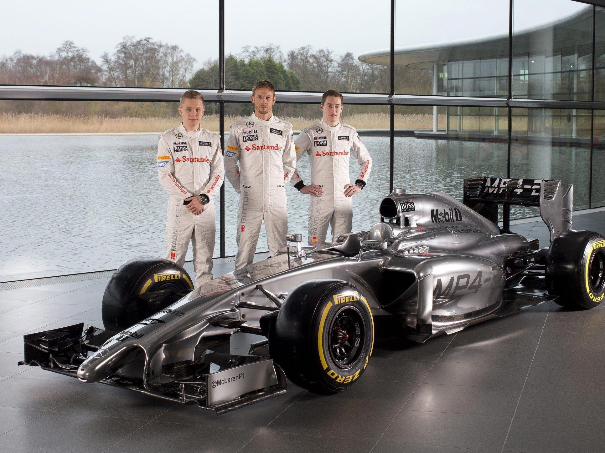 der McLaren Mercedes MP4-29 hat eine sehr gewöhnungsbedürftige Nase.
