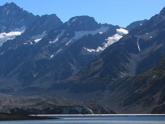 Der Mount Cook in Neuseeland ist kleiner als gedacht.
