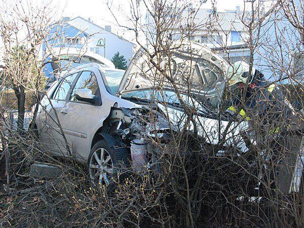 Der Unfallwagen in Achau
