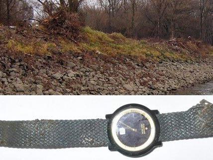 Diese Uhr wurde bei dem Toten im Wasser gefunden.