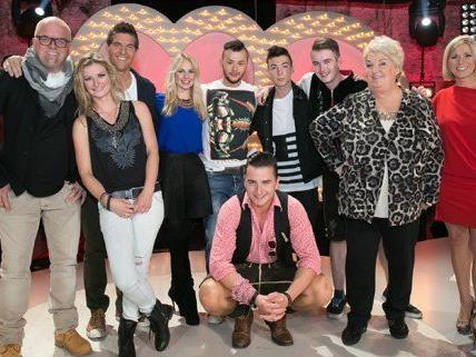 Die Gewinner der ersten Show mit Stargast Gabalier und der Jury.