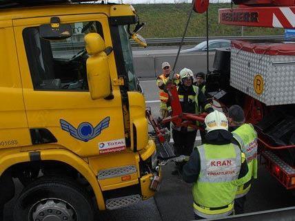 Mehrere Feuerwehren wurden nach dem Unfall zum Kraneinsatz gerufen.
