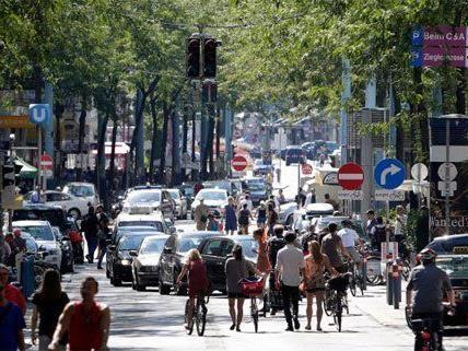 Weniger Schadstoffe dank Verkehrsberuhigung auf Mariahilfer Straße