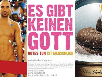 Unter anderem haben diese Plakate in Wien für Wirbel gesorgt.