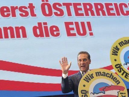CH Strache beim Neujahrstreffen der FPÖ am Samstag.
