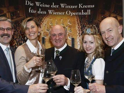 Präsentation der Weine für den Wiener Opernball 2014.