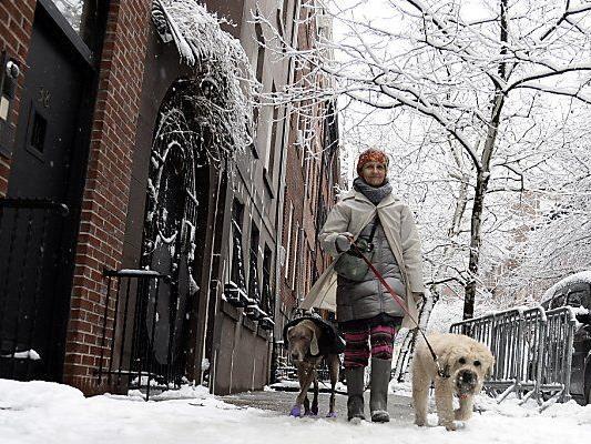 Winter hat auch New York fest im Griff