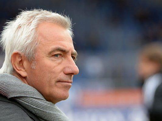 Schwere Stunden für HSV-Trainer Bert van Marwijk
