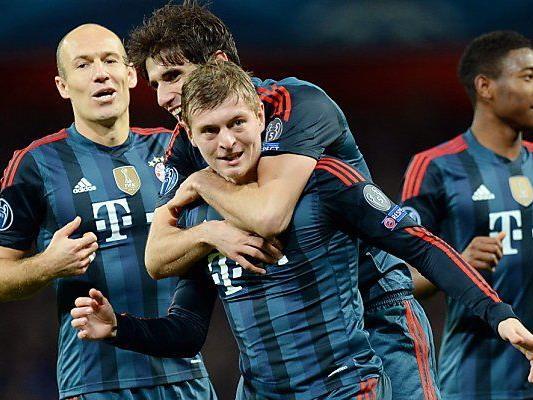 Toni Kroos traf zum 1:0 gegen Arsenal