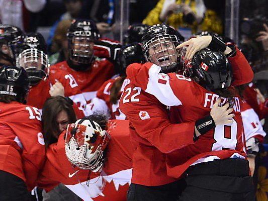 Riesenjubel beim Team Kanada