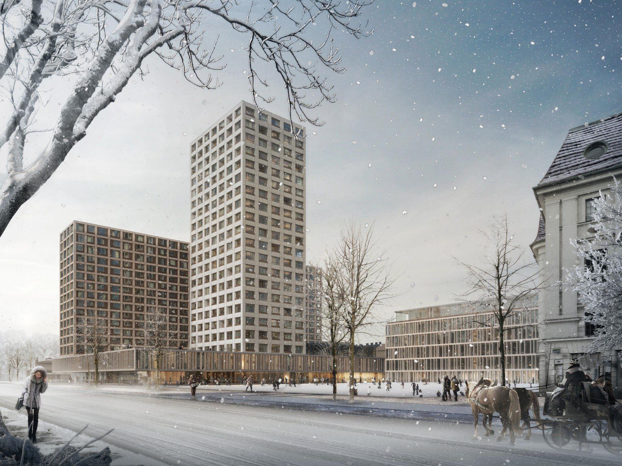 Neues Hochhaus am Areal des Wiener Eislaufvereins