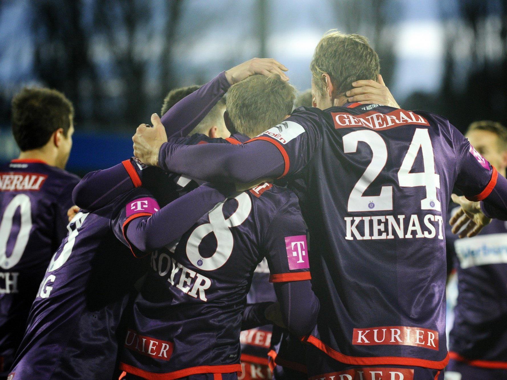 Live-Ticker zum Spiel FK Austria Wien gegen SC Wiener Neustadt ab 19 Uhr.