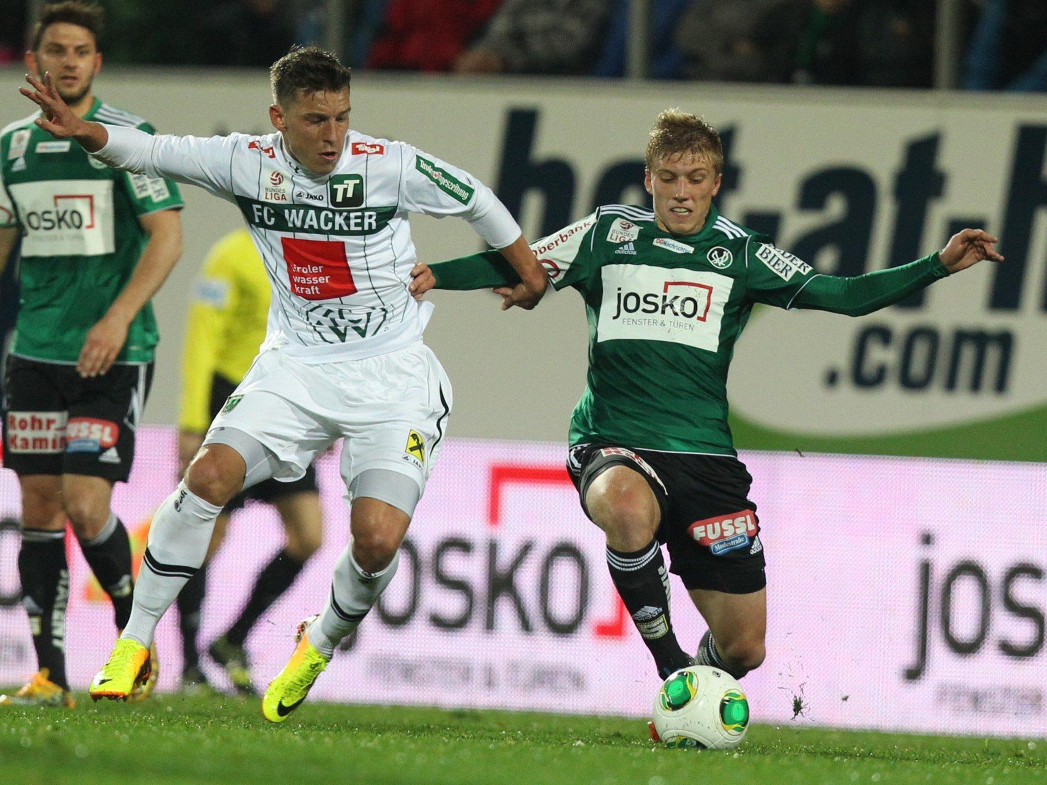 LIVE-Ticker zum Spiel FC Wacker Innsbruck gegen SV Ried am Samstag ab 19 Uhr.