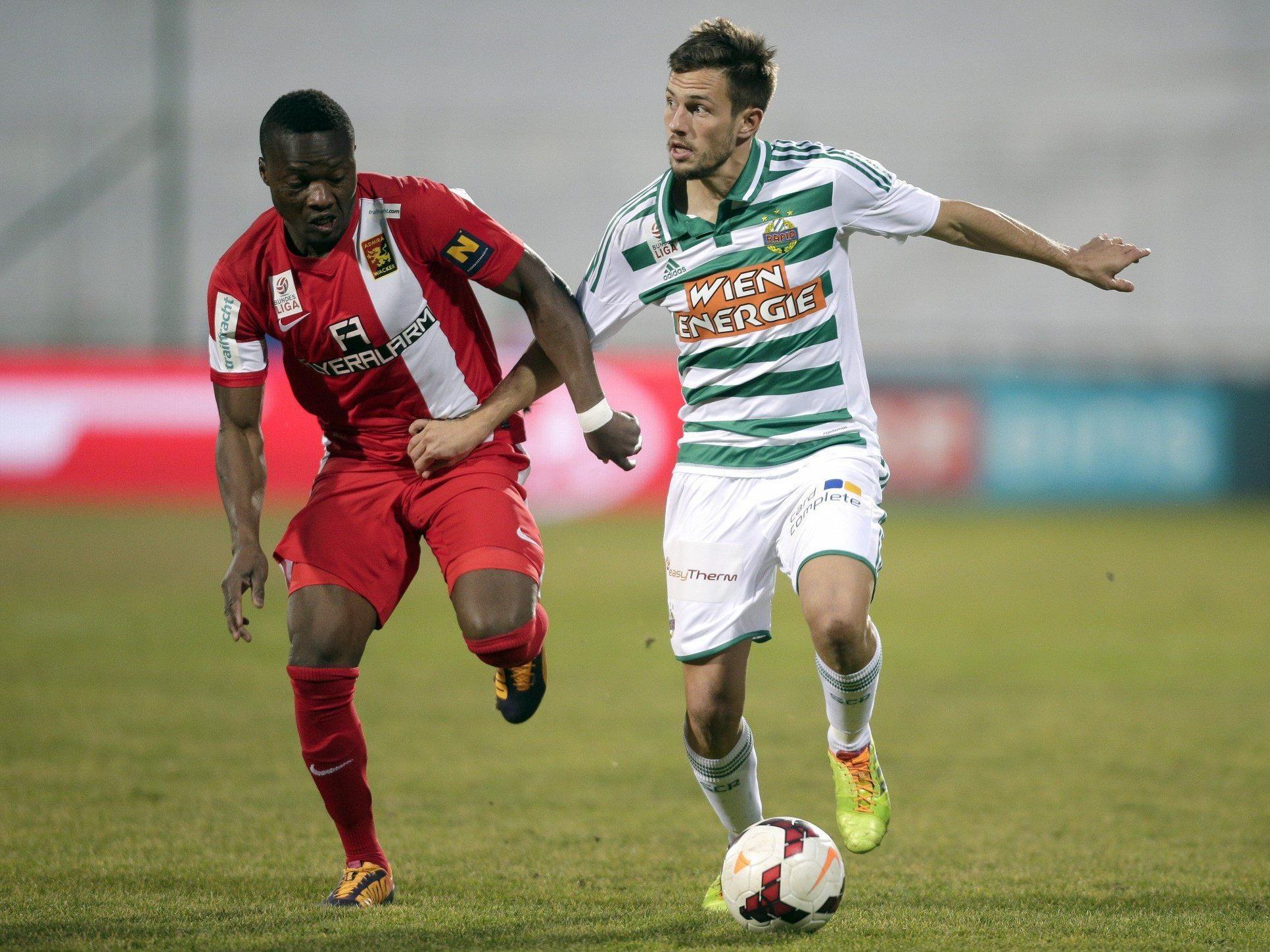 Rapid Wien unterlag am Sonntag Admira Wacker mit 1:2.