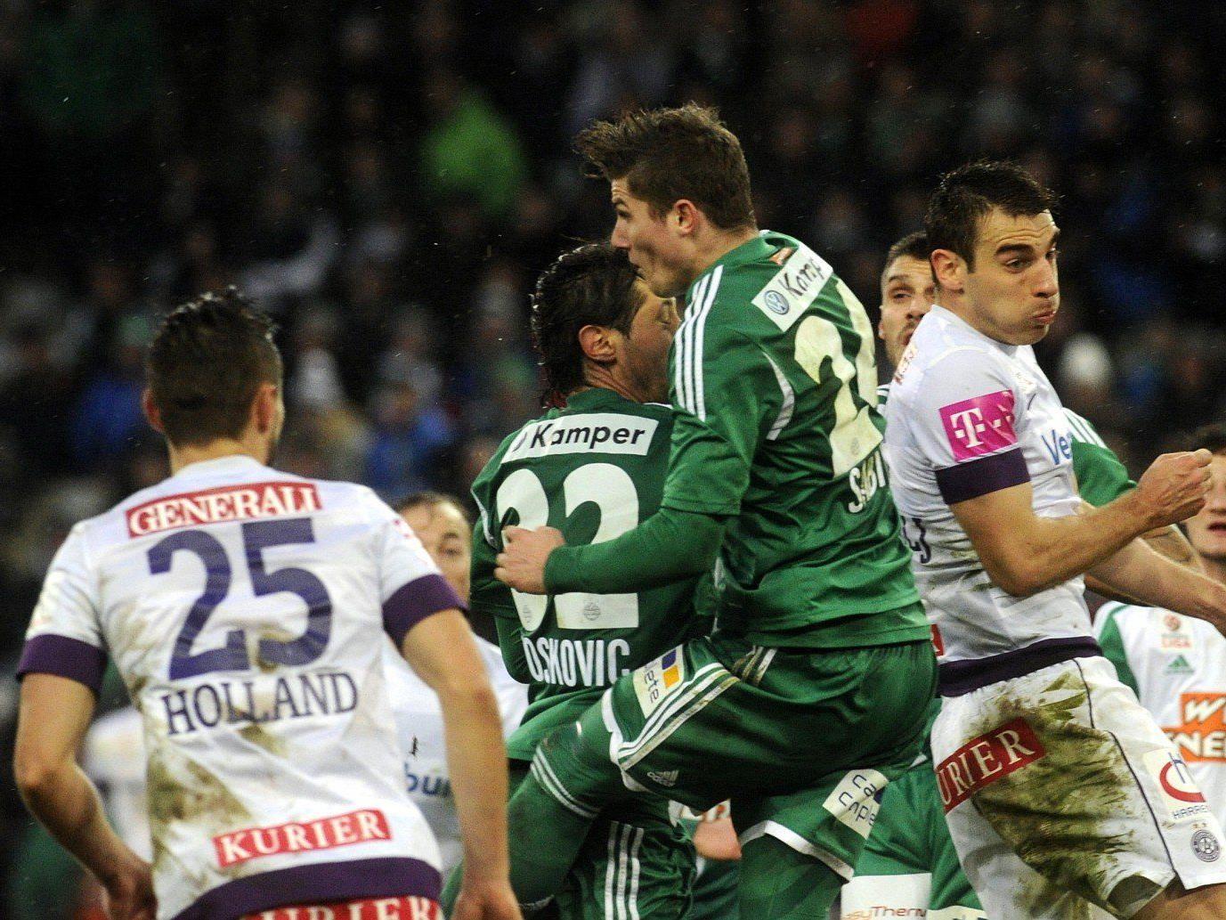 Rapid Wien gewann das Derby gegen Austria Wien im 3:1.