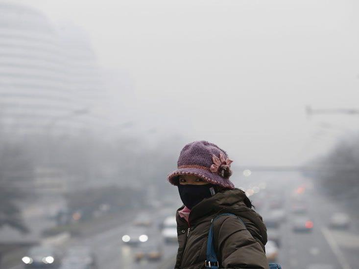 Zweithöchste Alarmstufe in Peking.