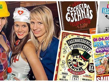 In Wien gibt es im Fasching jede Menge tolle Partys zum Abfeiern