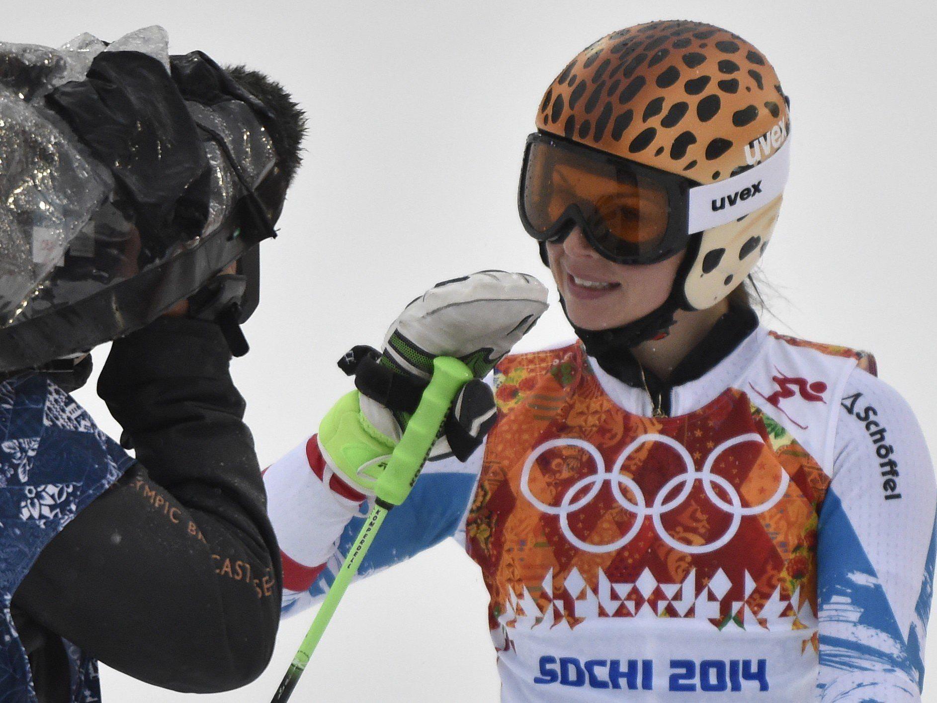 Für Fenninger war es die zweite Medaille bei den Winterspielen in Russland nach Gold im Super-G.