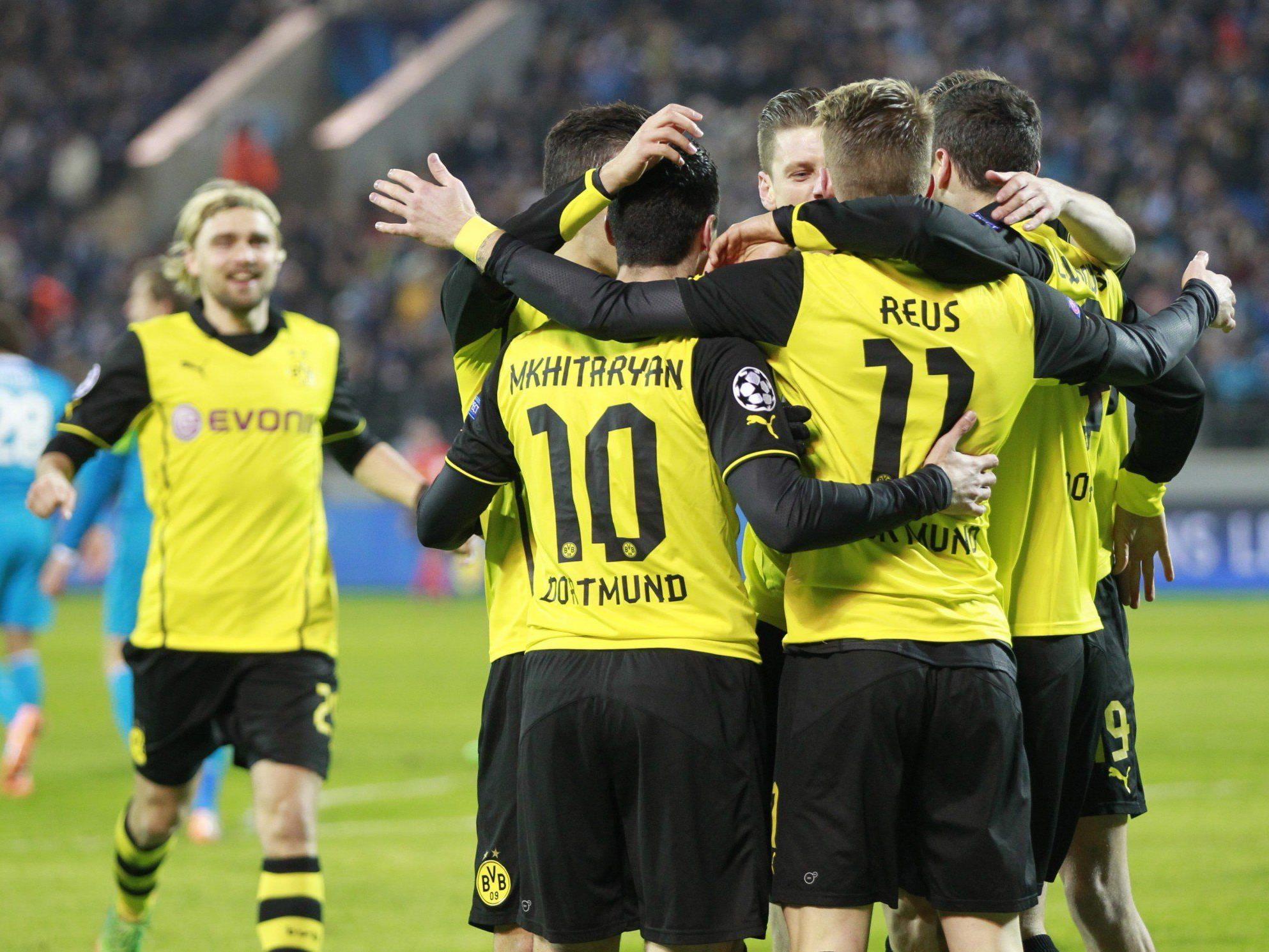 Dortmund jubelt über einen souveränen 4:2-Sieg bei Zenit St. Petersburg.