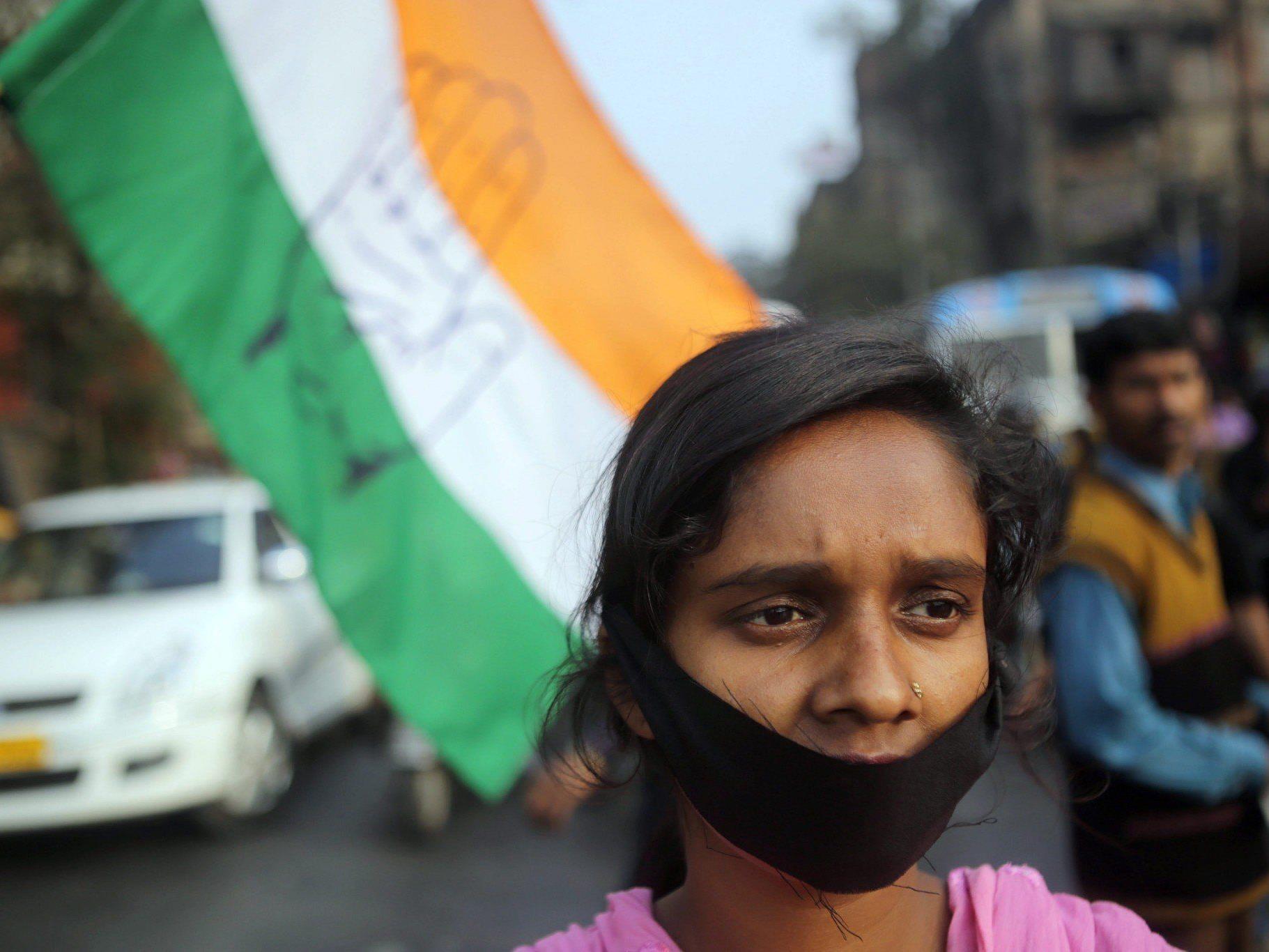 In Indien finden immer wieder Proteste gegen Massenvergewaltigungen an Frauen statt.