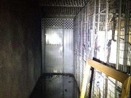 In diesem Keller brannte es