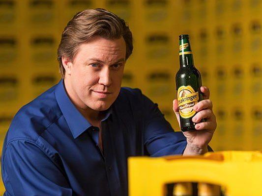 Schauspieler Nicholas Ofczarek bewirbt Wiener Bier