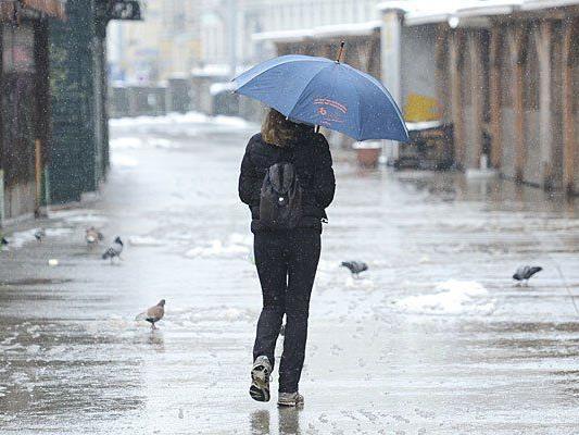 Es wird zwar mild, aber regnerisch