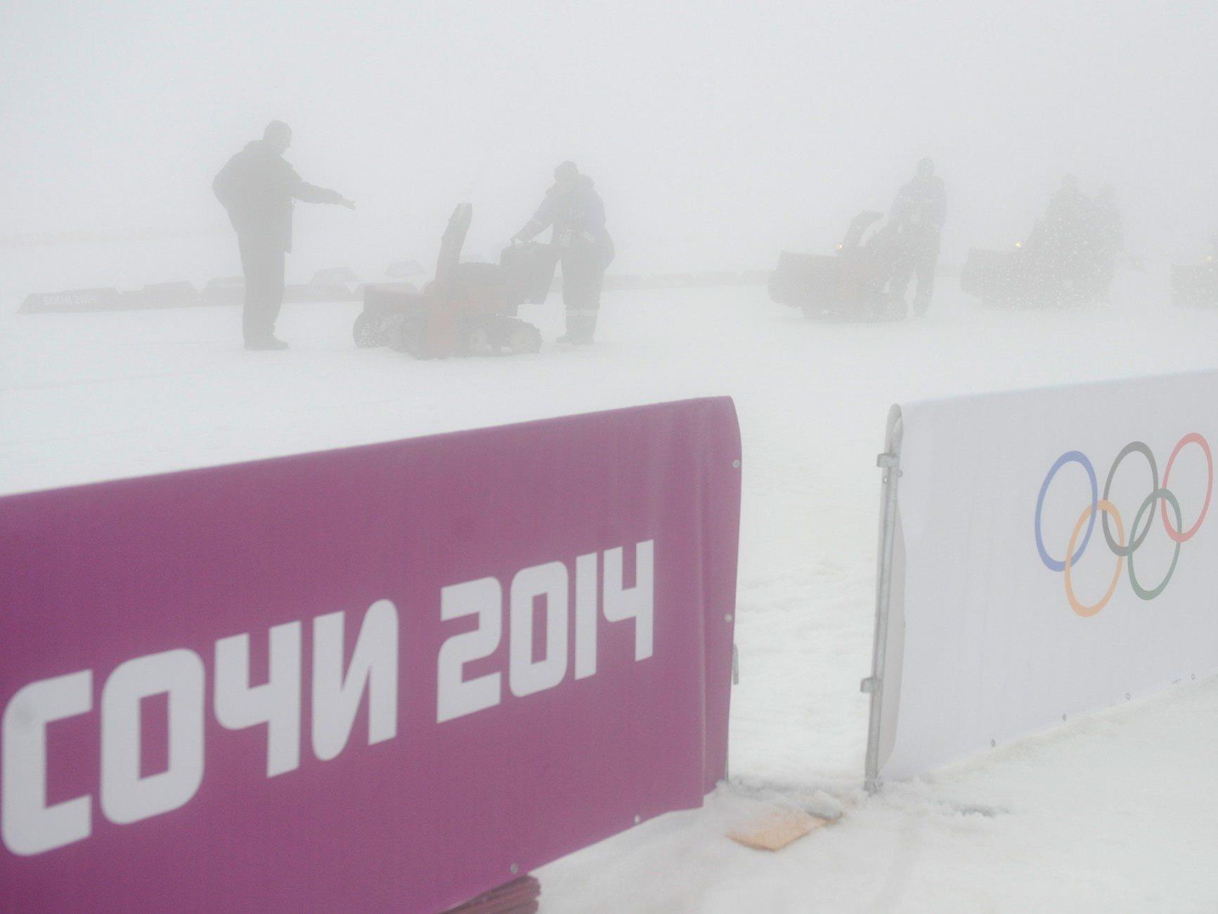 Biathlon, Snowboard-Cross und Damen-Riesentorlauf-Quali betroffen.