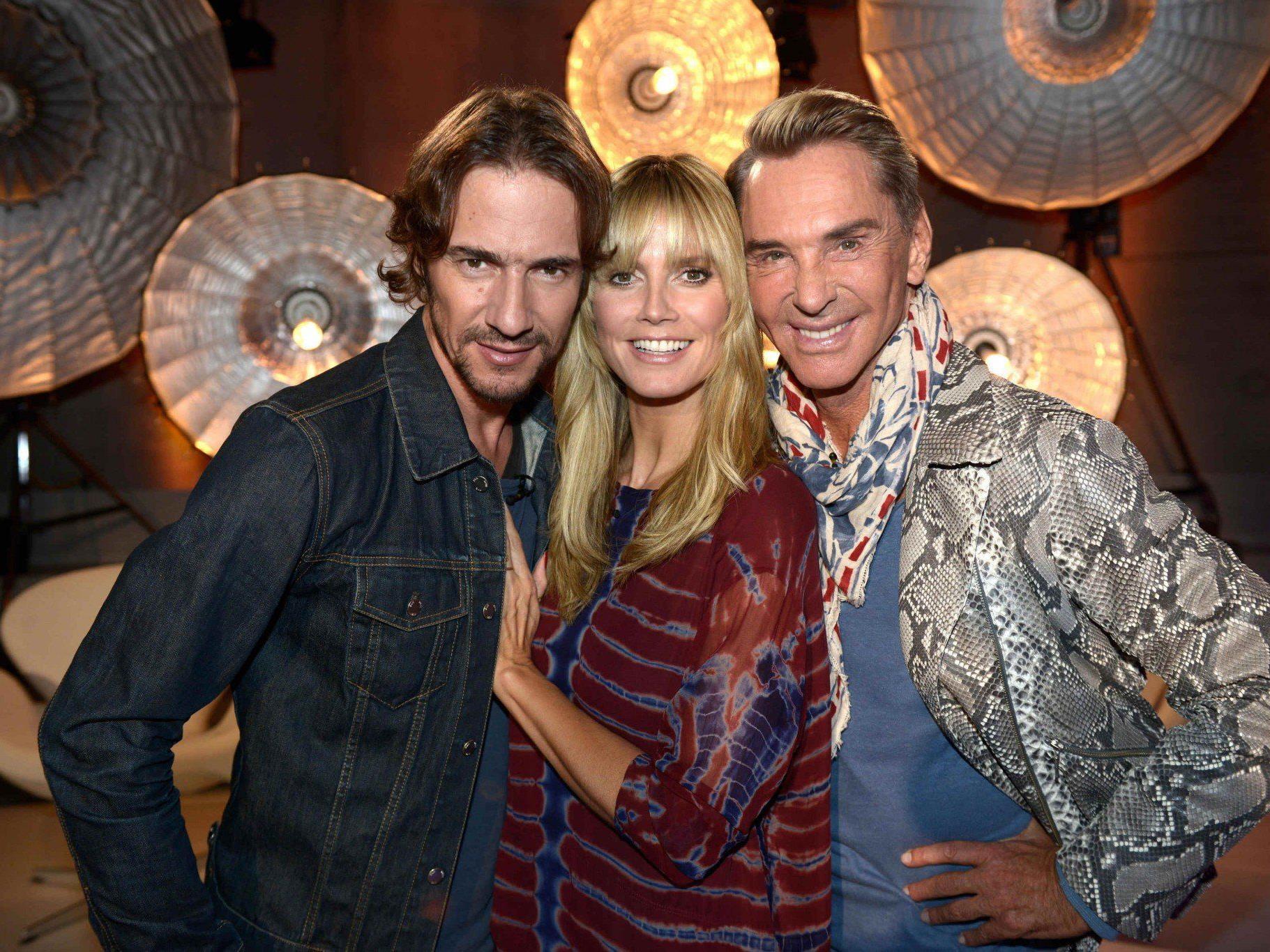 "Thomas Hayo, Heidi Klum und Wolfgang Joop: Das Jury-Trio in ""Germany's Next Topmodel 2014""."